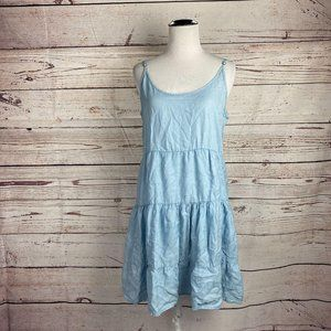 Molly Green Tiered Slip Dress Sz S